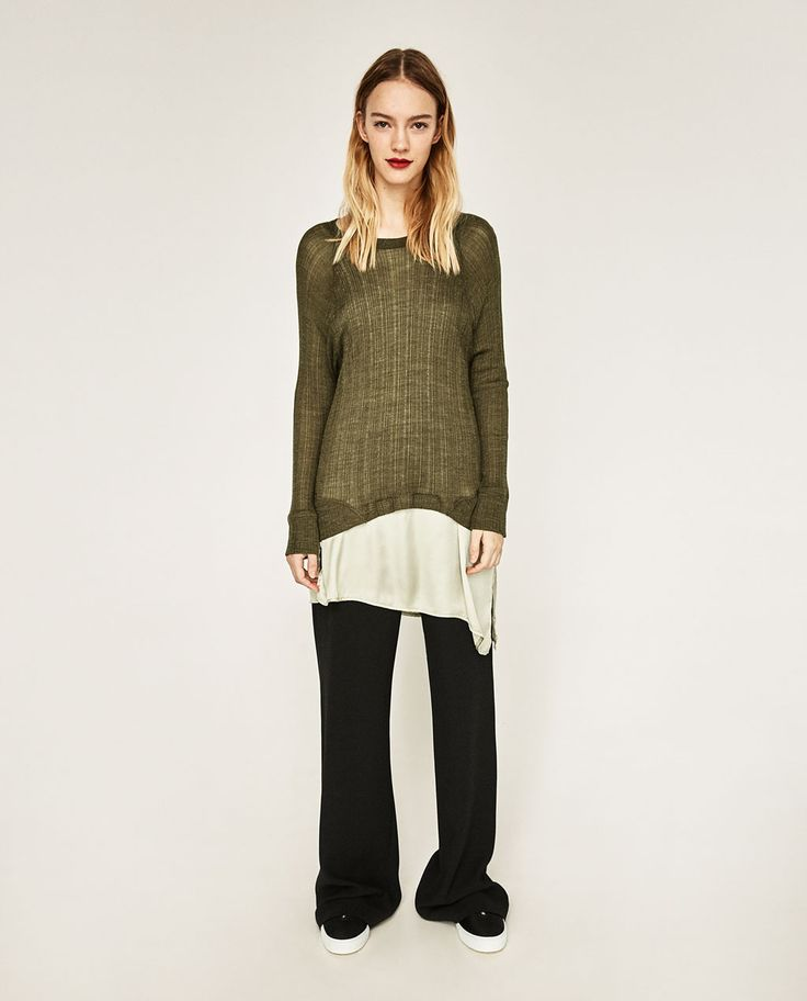 TWO-TONE ASYMMETRIC DOUBLE SWEATER - Available in more colours