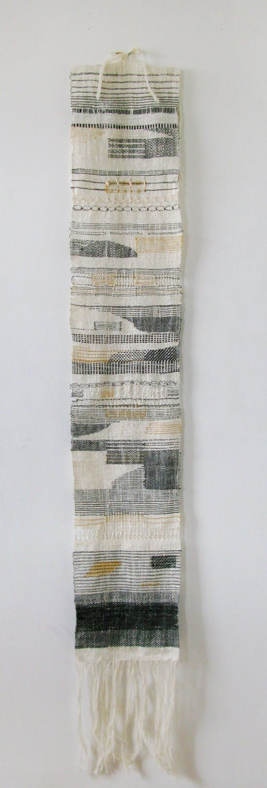 Hannah Waldron weaving sampler - learning to weave