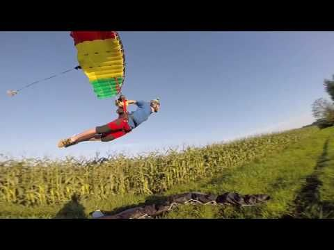 Taking farming to the next level and mowing some corn with canopies. Rob and Jamie show us what Icarus Canopies can do. these guys are pioneers   #skydiving #extremesports #swooping #goingfast