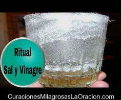 """Ritual de la Sal y el Vinagre."""" Eliminar energías negativas """""""