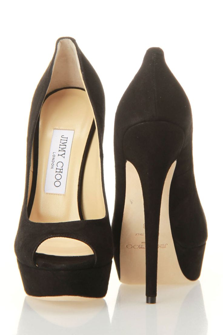 Jimmy Choo Vibe Pumps In Black - Beyond the Rack. Classic black peep-toe. LOVE.