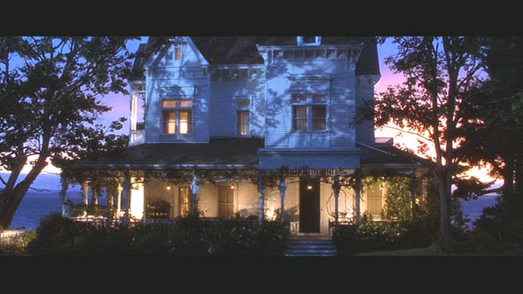 """An absolutely beautiful night shot of the gorgeous Victorian house used in the movie """"Practical Magic.""""  It's on Whidbey Island in the state of Washington."""