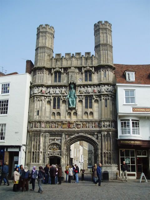Entrance to the Canterbury Cathedral (known as Christchurch Gate)