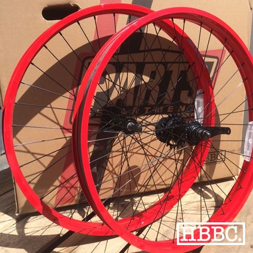 Wheels and Wheelsets 177830: Bicycle Rims 26 X 50Mm Red Single Speed Wheel Set Beach Cruiser Bike -> BUY IT NOW ONLY: $149.99 on eBay!