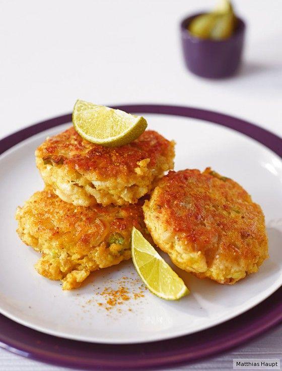 Was gibt unseren Lieblingsfischfrikadellen den richtigen Pep? Curry, Frühlingszwiebeln und Limette!