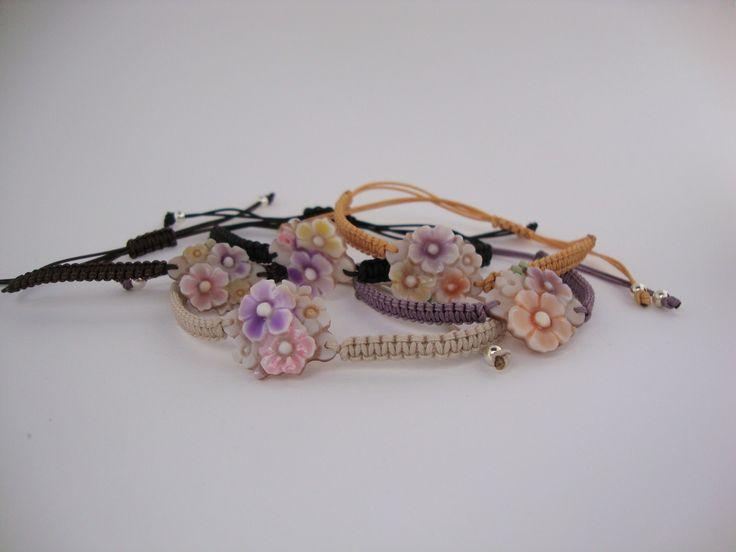 colored cameo bracelet