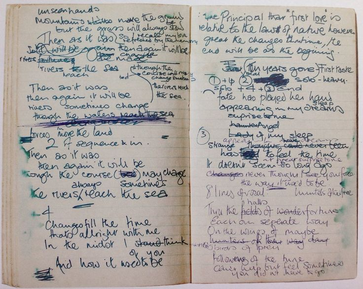 Robert Plant's notebook