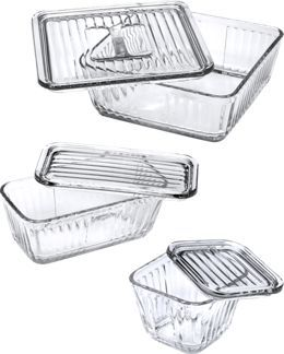 Anchor Hocking Glass Food Storage Containers   Refrigerator Dishes