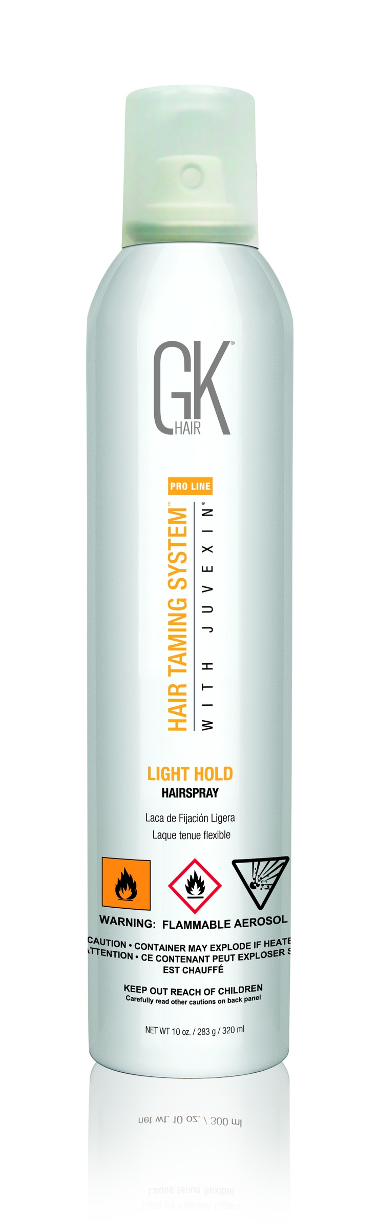 The #GKhair Light Hold #Hairspray $19 - creates lightweight control allowing #hair artists to create #beautiful, #flexible styles without sacrificing the desired result.