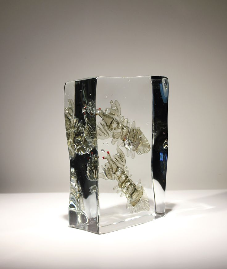 Glass Element with Two Cannocchie H230 x W150 x D65 mm