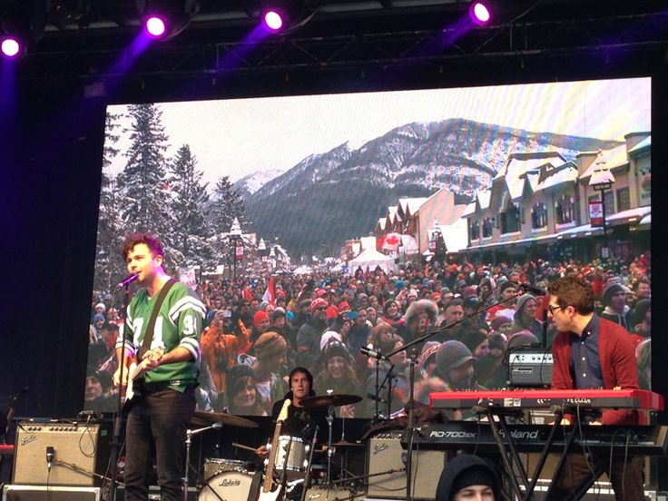 The Arkells performing live in downtown Banff