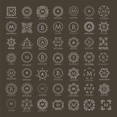 Colección del monograma para proyectos de diseño Gráficos Vectoriales