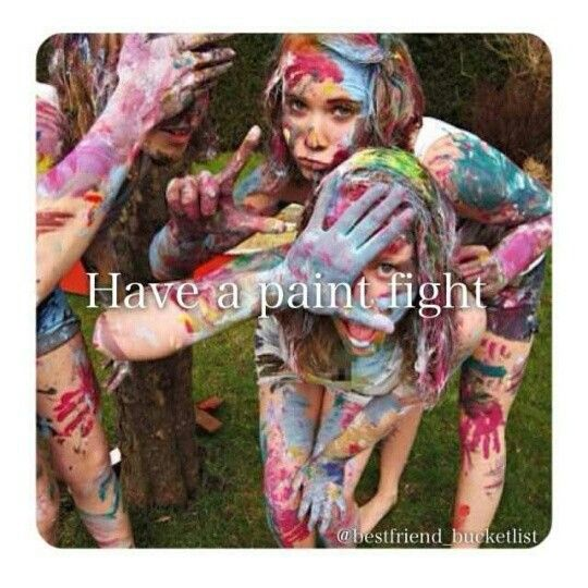 9. Have a paint fight with as many people as possible