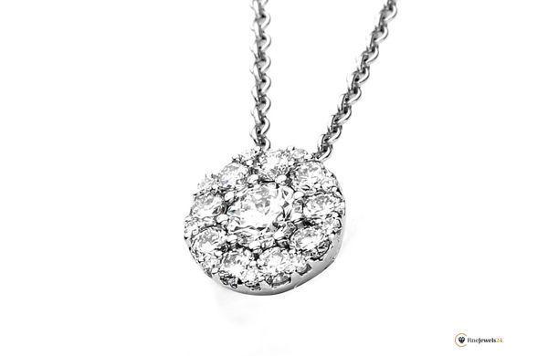 Diamantcollier Collier 750/Weissgold 0.44 ct., Halskette, Braut, Hochzeitsschmuck, bridal jewelry, bride, diamond collier