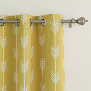 Arrow Room Darkening Grommet Curtain Panel Pair | Overstock™ Shopping - Great Deals on Curtains