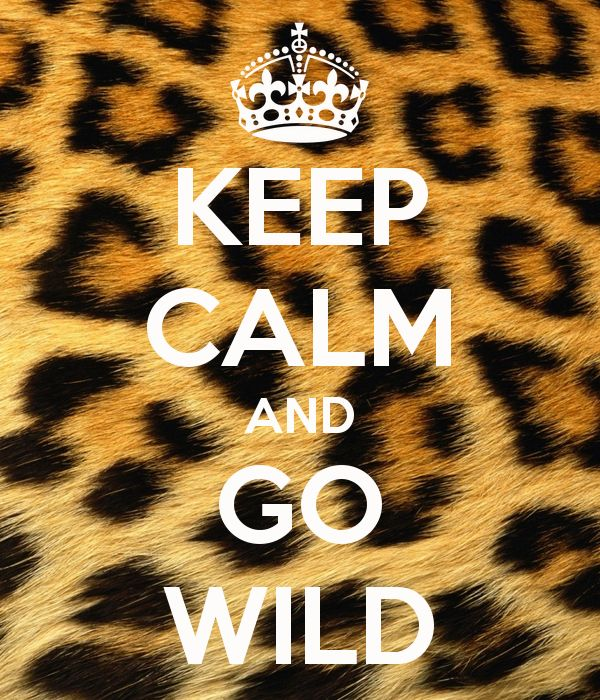 KEEP CALM AND GO WILD - KEEP CALM AND CARRY ON Image Generator - brought to you by the Ministry of Information