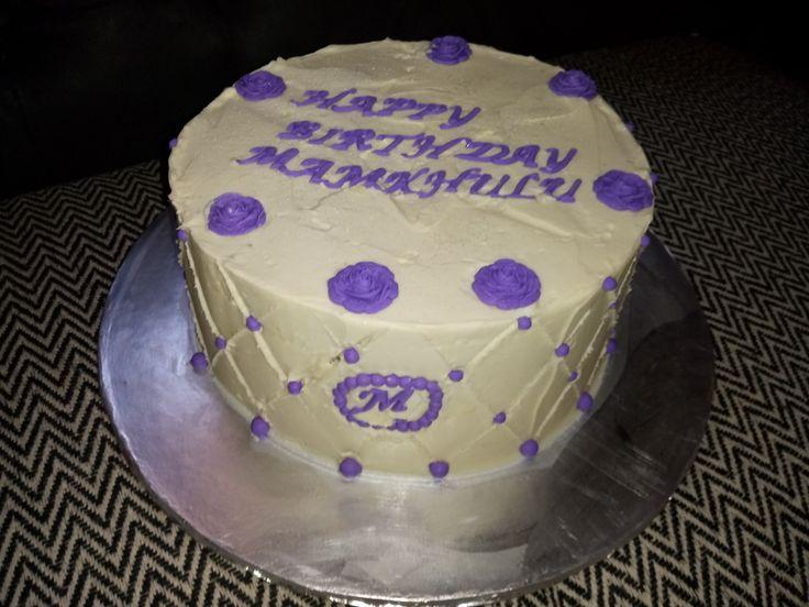 Butter cream birthday cake