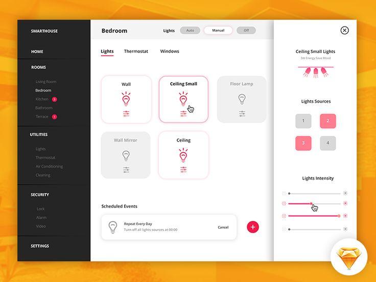Smart House | Ligth Control Panel by Yara Nova #Design Popular #Dribbble #shots