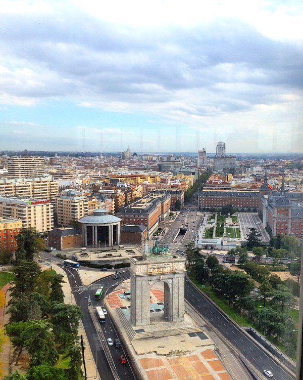 Desde el mirador de Moncloa. Madrid