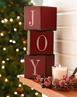 Paint Tiny Blocks Barn Red And Paint On Letters In Cream Lightly Stain Edges And Use At Christmas In Doll House