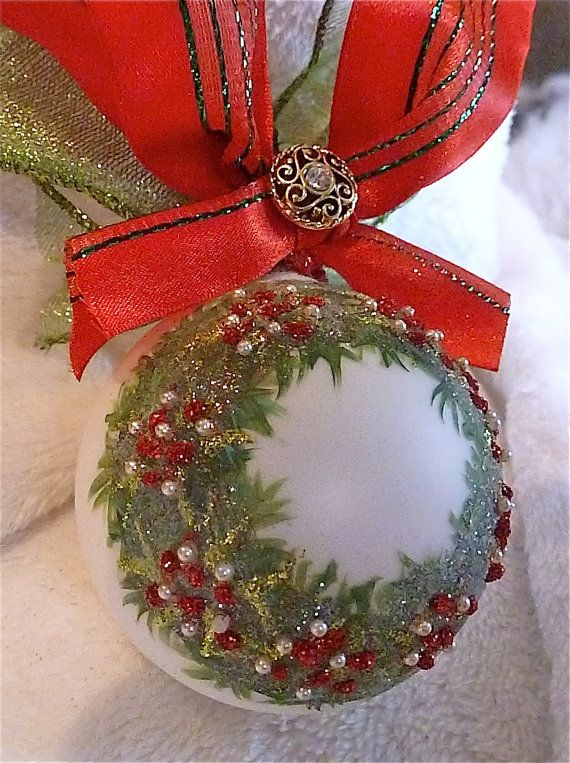Merry Christmas to You Glass Ornament by KARCREATIONS on Etsy, $25.00