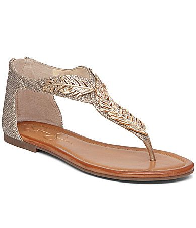 Jessica Simpson Kalie Flat Sandals #Dillards My easter sandals! complimented my pants.