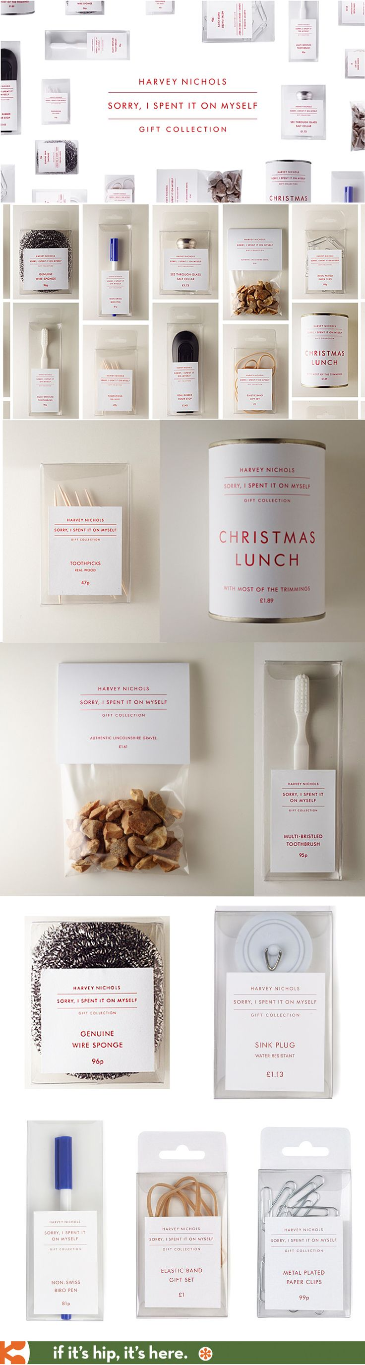 """Hilarious! Packaged goods from Harvey Nichols' """"Sorry, I spent it on myself"""" gift collection"""