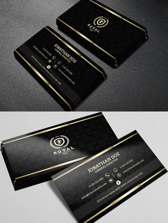 272 best business card templates images on pinterest business gold and black business card 40 reheart Choice Image