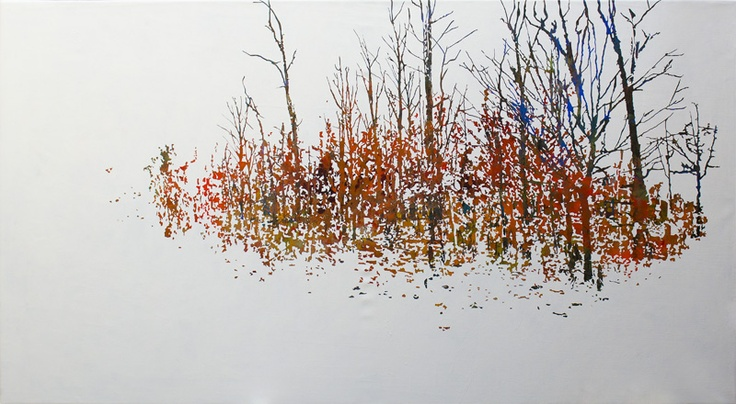 "Laura Messing - ""Bosque nevado"" acrílico sibre canvas 130x90 cm"