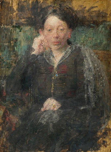 Portrait of a woman    Olga Boznańska (15 April 1865 in Kraków – 26 October 1940 in Paris)