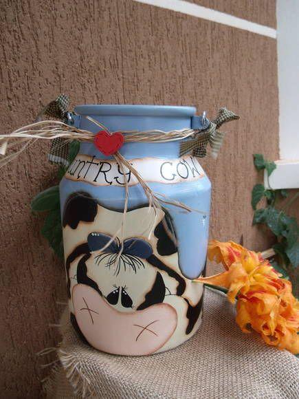 Leiterinha pintada em estilo country e folk, não é decoupagem. R$ 150,00