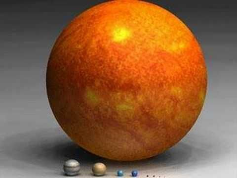 Scale of planets and stars -- excellent video