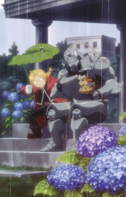 Fullmetal Alchemist----- I've never even seen this show but I love this picture and the little frog on top of the leaf is so CUTE!!