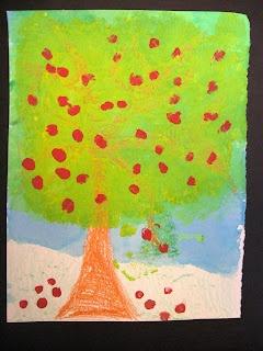 Art is Basic-- Art Teacher Blog: Kindergarten Apple Trees
