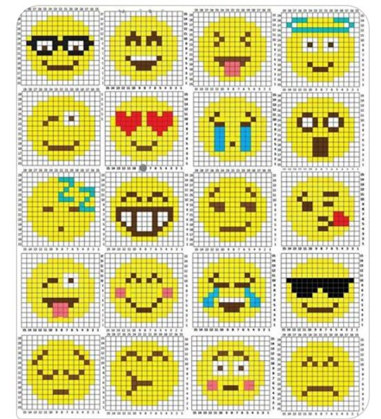 Emoji Cross Stitch Pattern                                                                                                                                                                                 More