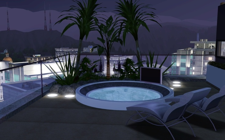 Balcony zveki sims 3 design inspirations pinterest for Sims 4 balcony