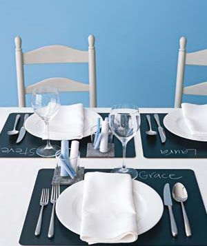 Chalkboard place setting- perfect idea for kids