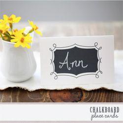 Wedding on a budget? FREE place card printables plus many other uber stylish wedding templates (via weddingchicks)