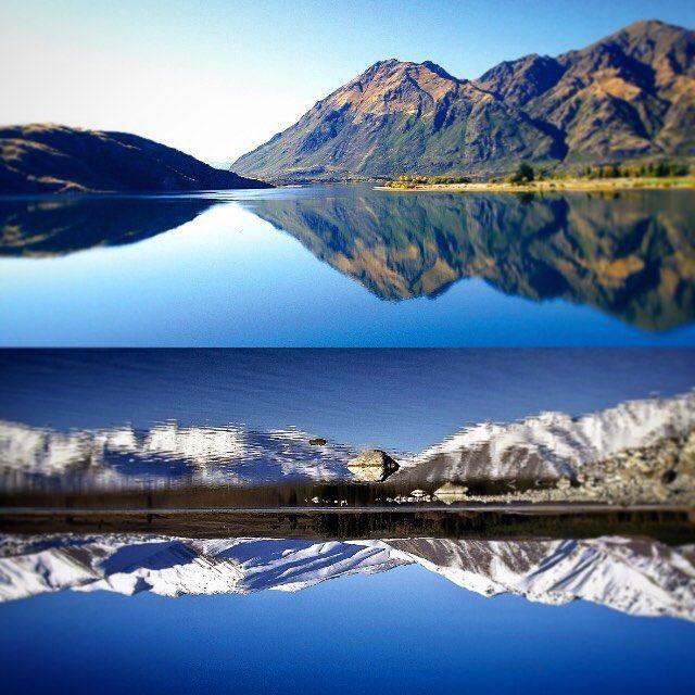 I New Zealand kan man opleve de smukkeste spejlinger. Spørg Steen, Anny eller Peter om New Zealand  #NewZealand #LakeWanaka #Dunedin #landscape #mountains #nyhavnrejser #ferie #drømmeferie #PlacesAroundEarth #BestVacation #travel #Vacation #TravelAndLife #wanderlust #oplevelser #adventure