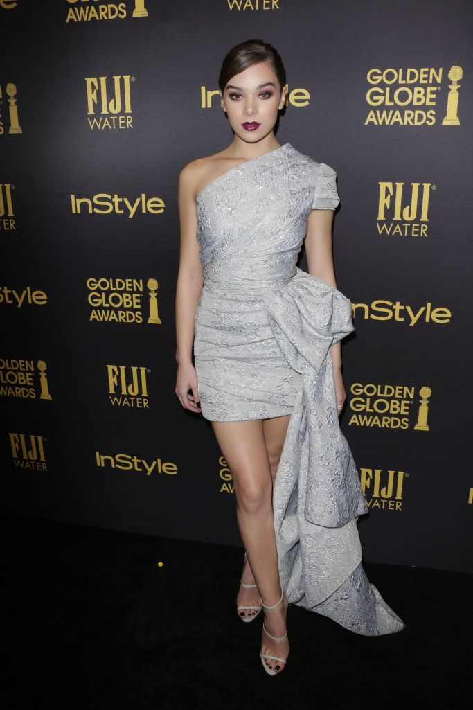 Hailee Steinfeld at Inside, Red Carpet Arrivals at Miss Golden Globe 2017 Party Hosted by HFPA and InStyle