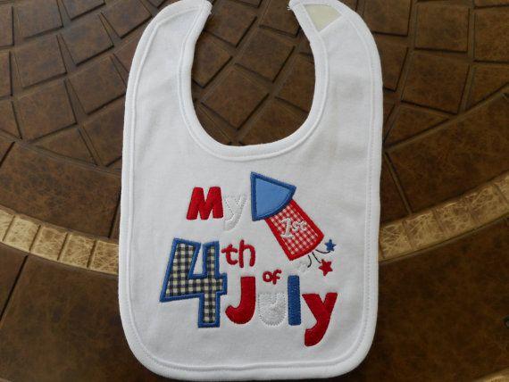 4th of july baby bib