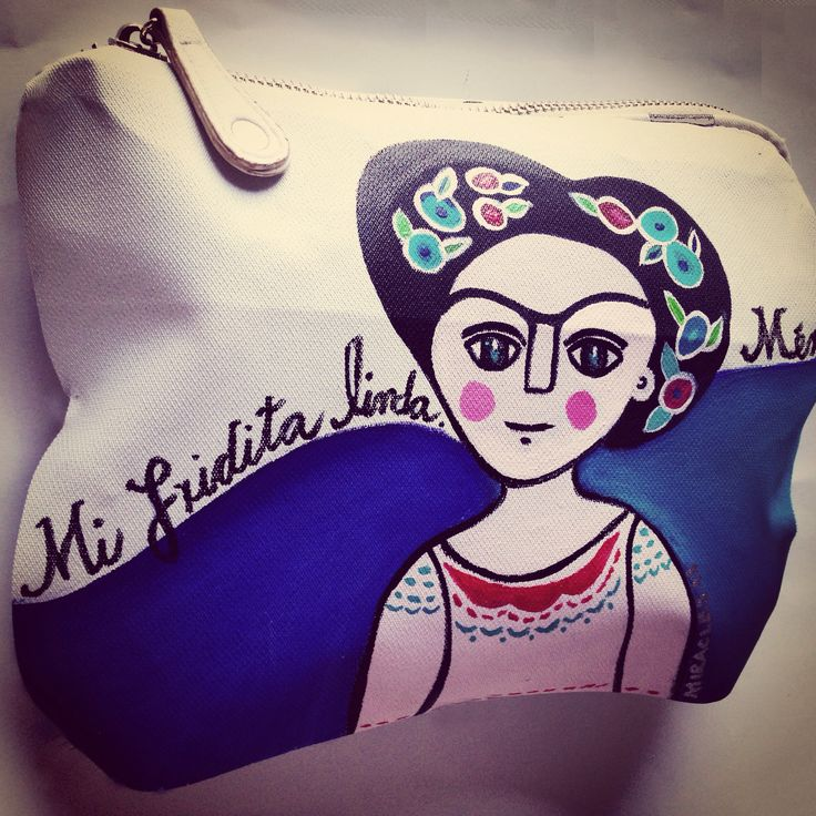Mi Fridita. Bolsa pintada a mano.