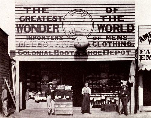 The Greatest Wonder Importer of Men's Clothing, Gulgong, NSW c 1872