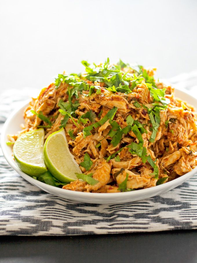 Spicy Tequila Lime Shredded Chicken
