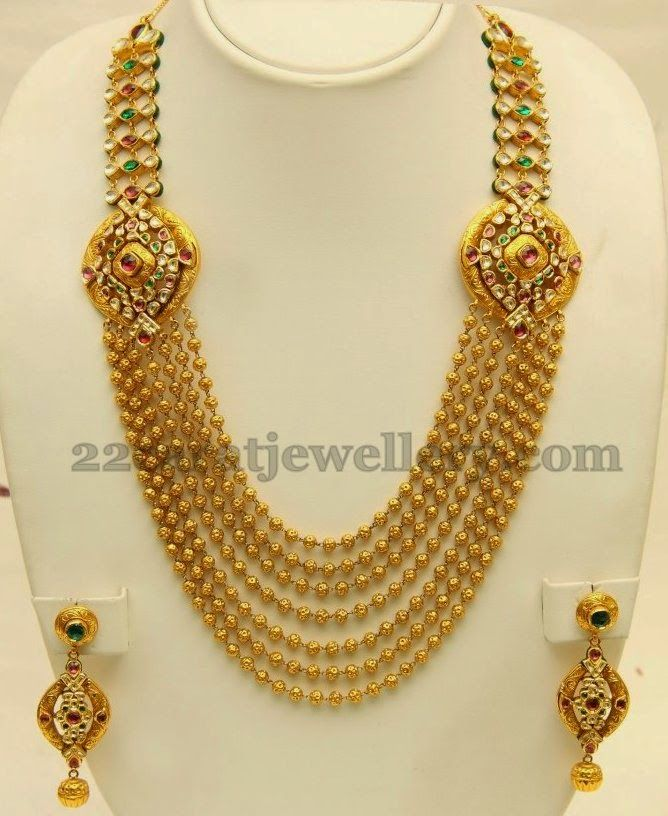 Jewellery Designs: Seven Stringed Gold Haram