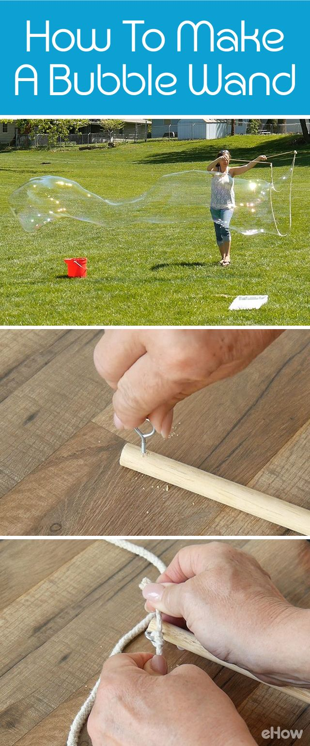 Make these giant bubble wands for giant bubbles to play with this summer! The kids are going to LOVE this, we promise. http://www.ehow.com/how_3391768_make-use-large-bubble-wand.html?utm_source=pinterest.com&utm_medium=referral&utm_content=freestyle&utm_campaign=fanpage