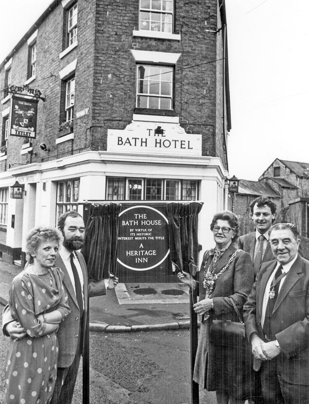 The Bath Hotel, No 66, Victoria Street, junction of Convent Walk. Dating from 1863