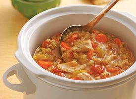 Slow Cooker Chicken-Barley Stew
