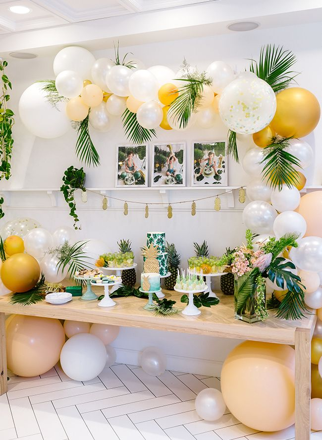 A Boy S Green Tropical First Birthday Party Party Ideas
