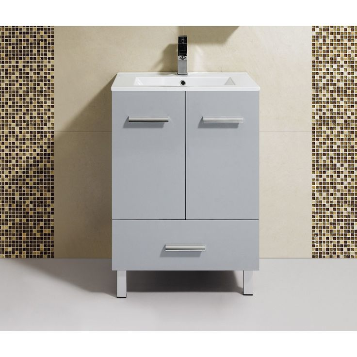 Contemporary Art Websites Fine Fixtures Atwood inch Vanity with Vitreous China Sink Top Grey Size Single Vanities